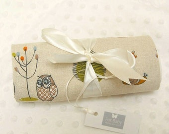 Baby Burp Cloths, Cotton Burp cloths, Woodland or Fox Print, Set of 2, Newborn Baby Gift, Baby Shower Gift, Baby Wipe Cloths