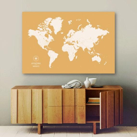 Push Pin Travel Map, World Map Push Pin, Pin Map, Custom Map, World Travel Map, World Map Canvas, Push Pin Map, Large World Map, Travel Map