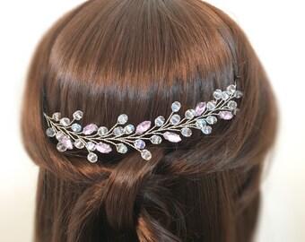 Bridal Headpiece, Silver Bridal Hair Accessories, Headpiece Wedding, Bridal Hairpiece, Hairpiece Bridal head piece, Wedding Hair Accessories