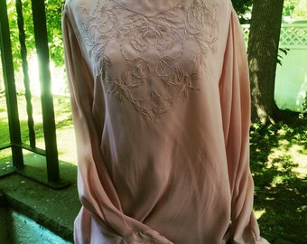 Embroidered pink blouse