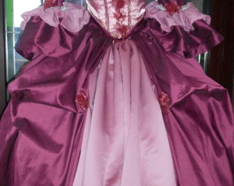 18th century Custom made gown made to your own style and measurements with hooped petticote  queen fairy princess stage party banquet