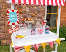 Carnival Candy Cart Printables - Candy Bar Sign - Carnival Signs - Instant Download and Edit File at home with Adobe Reader