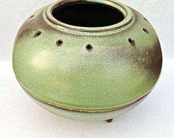 Frankoma Vase Prairie Green Vintage Mid Century Modern Southwest MCM