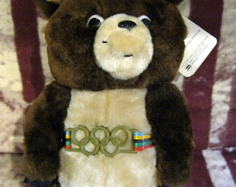 Misha, Mascot of the 1980 Olympic Summer Games Held in Moscow which the U.S. Boycotted, Plush Russian Bear