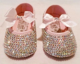 Crystal baby shoes