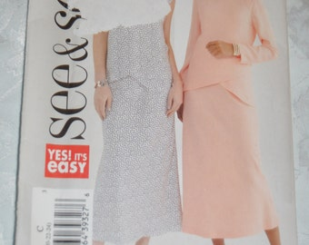 See and  Sew 444  MIsses Top and SKirt Sewing PAttern - UNCUT - Sizes 20 22  24