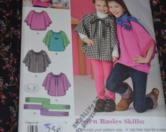 Simplicity 1763 Childs and Girls KnitTop Fleece capelet and Scarf Sewing Pattern - UNCUT - Sizes 7 - 14