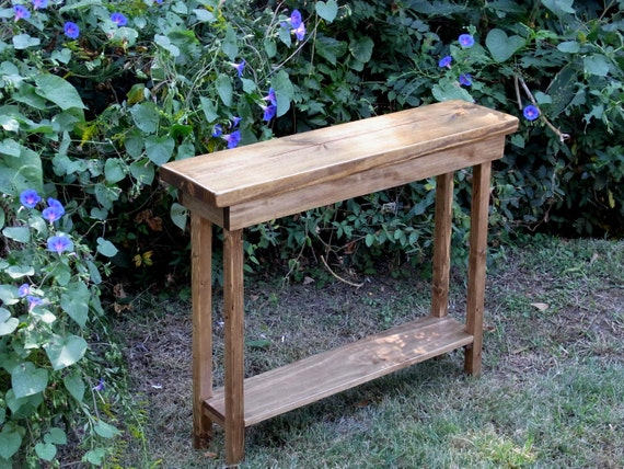 Rustic Narrow Foyer Table : Rustic console table extra narrow inch sofa entryway