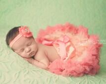 Tutu, Pink Tutu, Pink Pettiskirt, Newborn Tutu, First Birthday Outfit, Newborn Pettiskirt, Tutu and Headband Set, Cake Smash Outfit