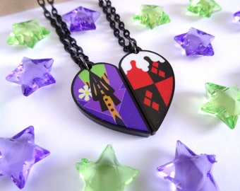 Joker and Harley Quinn BFF Necklace Set