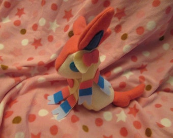 Sylveon Pokemon Plush, Geeky, Unique Gift for Video Game Lovers, Nerds, and Kids, Eeveelution Toy, Kawaii Handcrafted Plushie Squishy