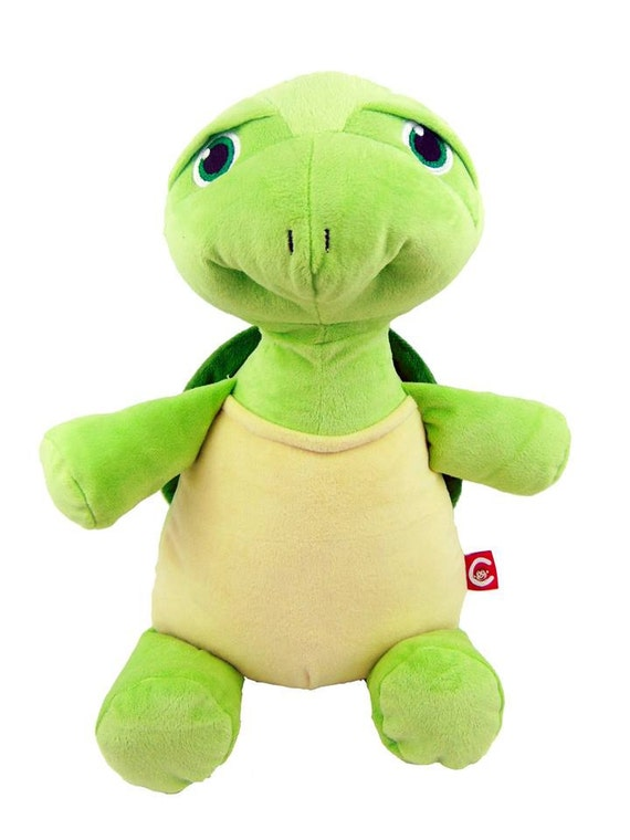"Personalized Baby Gift ""Baby Cubby"" Mr. Shigglesworth the Turtle, a plush stuffed animal keepsake with machine embroidered birth information"
