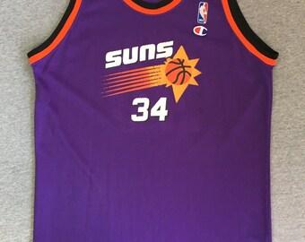 ... CHARLES BARKLEY Jersey 90s Vintage Phoenix SUNS Champion 34 Basketball NbA  Shirt Throwback ... 42a2cfd0d