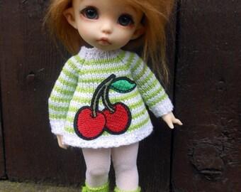 """PukiFee, Lati Yellow,""""cherry"""" sweater/pullover - white/green"""