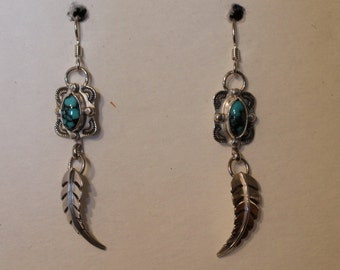 Turqouise Sterling Silver Earrings