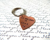 All you need is love, heart key chain, perfect for your favorite dude!