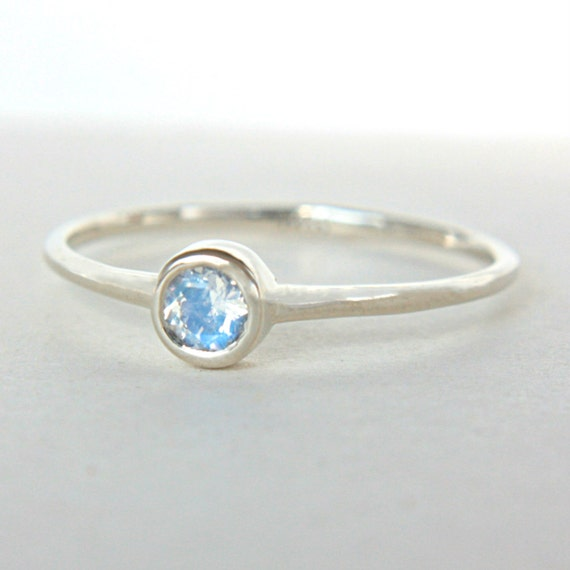 white gold moonstone ring 14k gold moonstone white