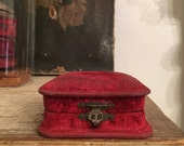 Victorian mohair watch or locket box
