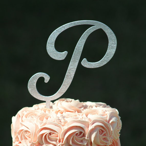 wedding cake toppers initials metal silver monogram wedding cake topper wooden wedding cake 26512