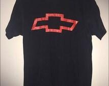 Vintage 90's Heartbeat of America Chevy Chevrolet Bowtie Shirt - Size Medium