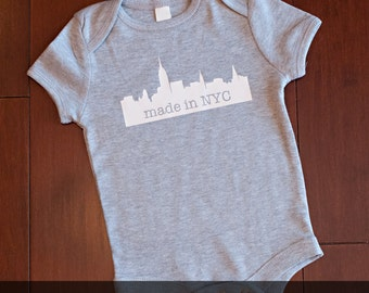 Personalized NYC bodysuit Made in NYC Free and Fast Shipping in the US