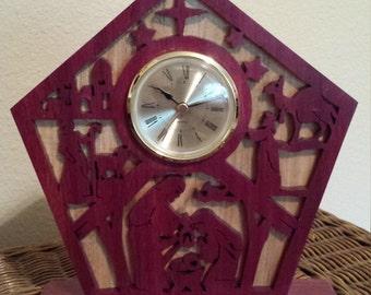 Handmade Nativity Clock