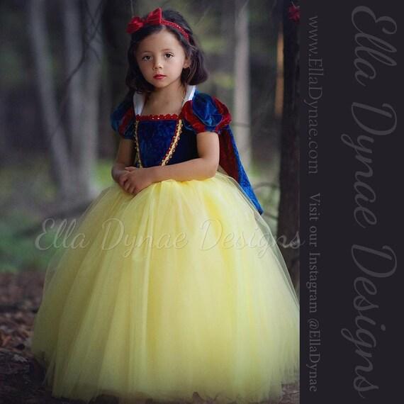 Original Princess Snow White Cinderella Dresses Costumes: Snow White Costume Princess Gown Tutu Dress