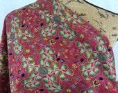 Australian Aboriginal Fabric--Gathering Bush Tomato Red--Aboriginal Design--Australian Quilt Fabric--Australian Fabric by the HALF YARD