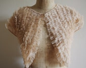 CLEARANCE || Blush pink shrug - nude capelet - 30s 40s 50s style bolero