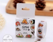 """Sushi Washi Tape - 5/8"""" x 11 yd (15 mm x 10 m) - paper tape by Miss Time"""