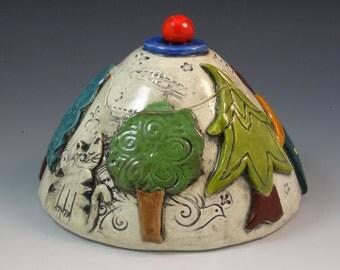 lidded Ceramic piece