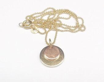 Gold chain bicolor 333 / 8 k gold ball chain