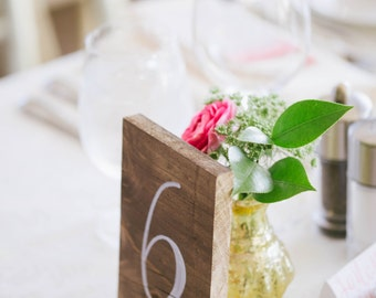 Wedding Table Numbers, Rustic Wedding Signs, Wooden Table Numbers, Rustic Wedding Decor