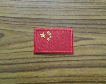 China Flag Applique Embroidered Iron on Patch