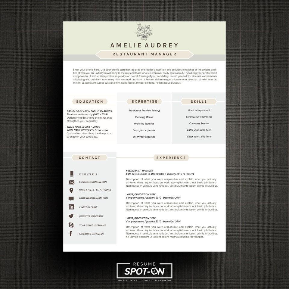 a lasting impression resume  cv design template free cover