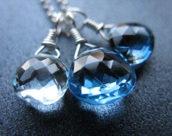 London Blue Topaz Necklace, Blue Topaz Necklace, Sky Blue, Swiss Blue Topaz, Sterling Silver, Heaven's Garden Jewelry Design- Glacial Waters