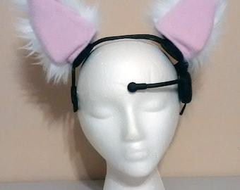 White Nekomimi Ear Covers - Ready Made