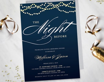 Starry Night – Rehearsal Dinner Invitation (Digital File)