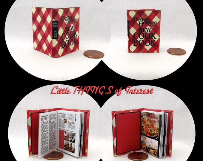 BETTER HOMES And GARDENS New Cookbook Book 1:6 Scale Color Illustrated Cook Book Miniature Book