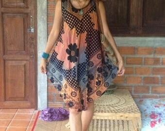 Handmade Dress/Tribal Flora Dress/Boho Flora dress/Festival Dress/Hippie Dress