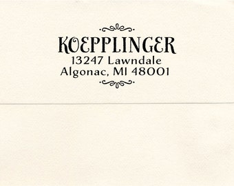 Custom Address Pre-inked Stamp, Algonac