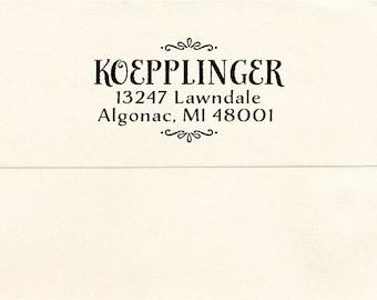 Custom Address Pre-inked Stamp, Algonac