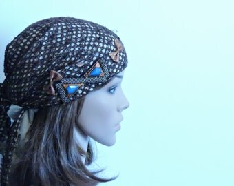 Brown Net Tichel , Head Scarf , Chemo Scarf , Hair Snood , Jewish Hair Covering , Chemo Cap , Headscarves , Mitpachat