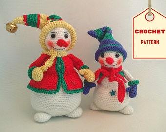 Snowmen Forever 2-in-1 – PDF Crochet Pattern [Instant Download Amigurumi Toy]