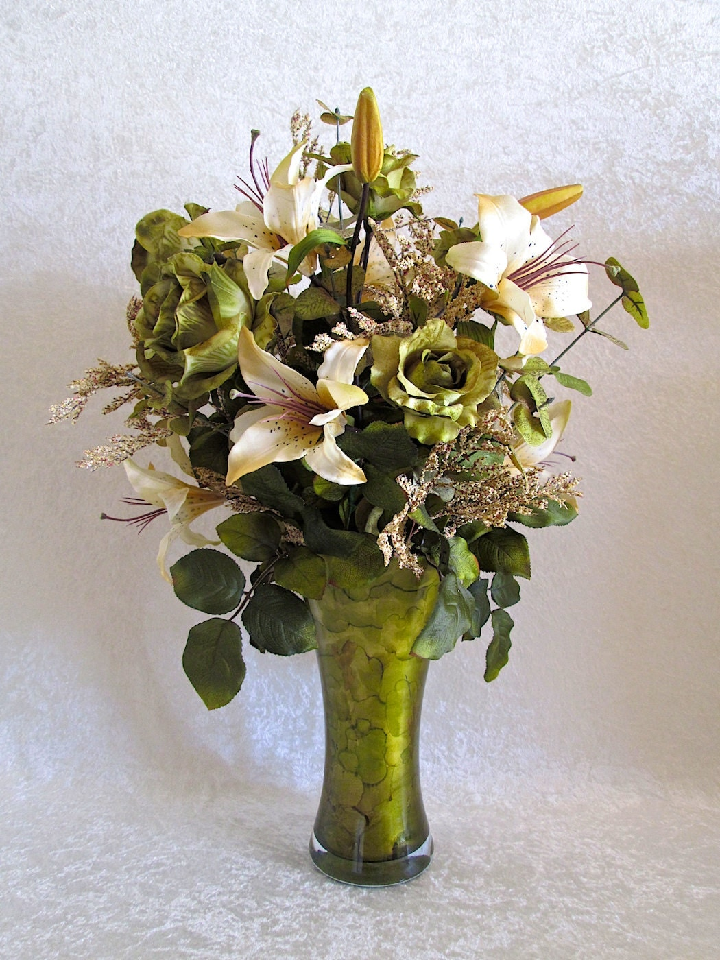 silk flower arrangement large