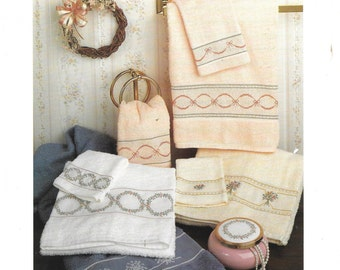 Country French Towels Pat Waters Counted Cross Stitch Charted Design Border Patterns
