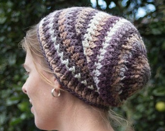 Petals and Post Slouch beanie - PDF Pattern - Crochet