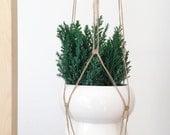 Natural Macrame Plant Hanger   Handmade by zoé g kocsis