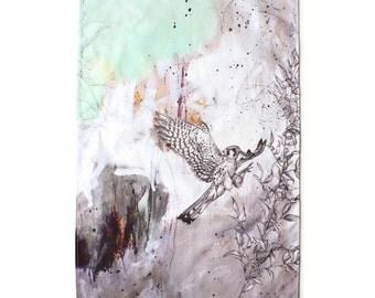 American Kestrel Tea Towel