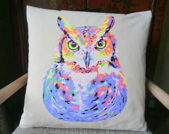Owl Cushion Cover, Animal Cushion, Owl Print Cushion Cover, Decorated Cushion, Animal Print, Owls, Throw Pillow, Cushion Cover, New